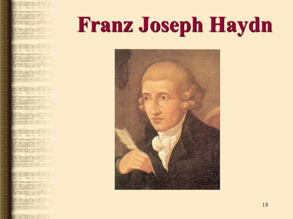 18 Franz Joseph Haydn