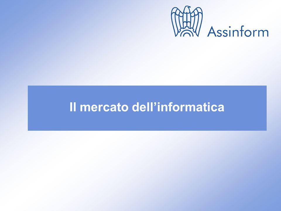 Il mercato dellICT in Italia nel 1° semestre 2010 14 settembre 2010 3 Il mercato dellinformatica