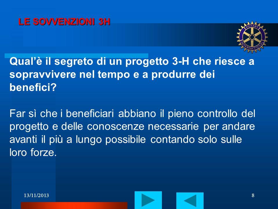 13/11/20139 LE SOVVENZIONI 3H La procedura.