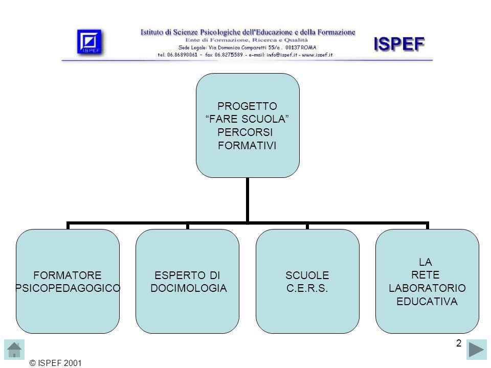 2 PROGETTO FARE SCUOLA PERCORSI FORMATIVI FORMATORE PSICOPEDAGOGICO ESPERTO DI DOCIMOLOGIA SCUOLE C.E.R.S.