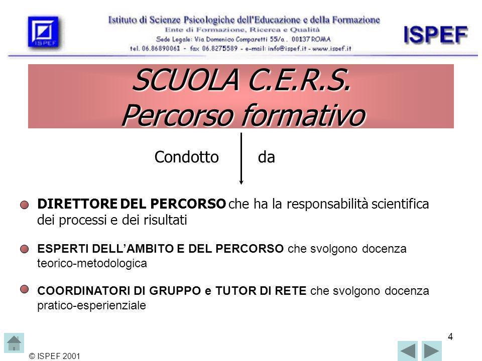 4 © ISPEF 2001 SCUOLA C.E.R.S.