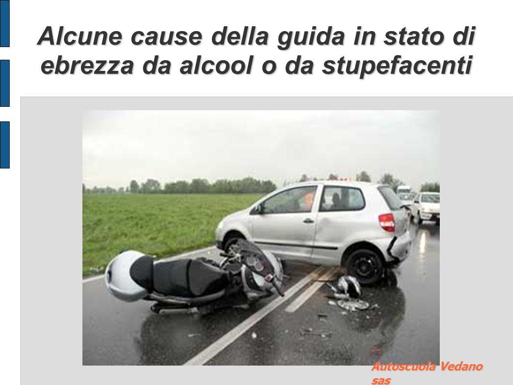 Alcune cause della guida in stato di ebrezza da alcool o da stupefacenti Autoscuola Vedano sas