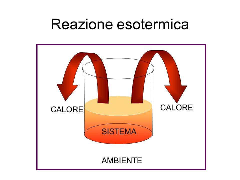 Reazione esotermica SISTEMA AMBIENTE CALORE