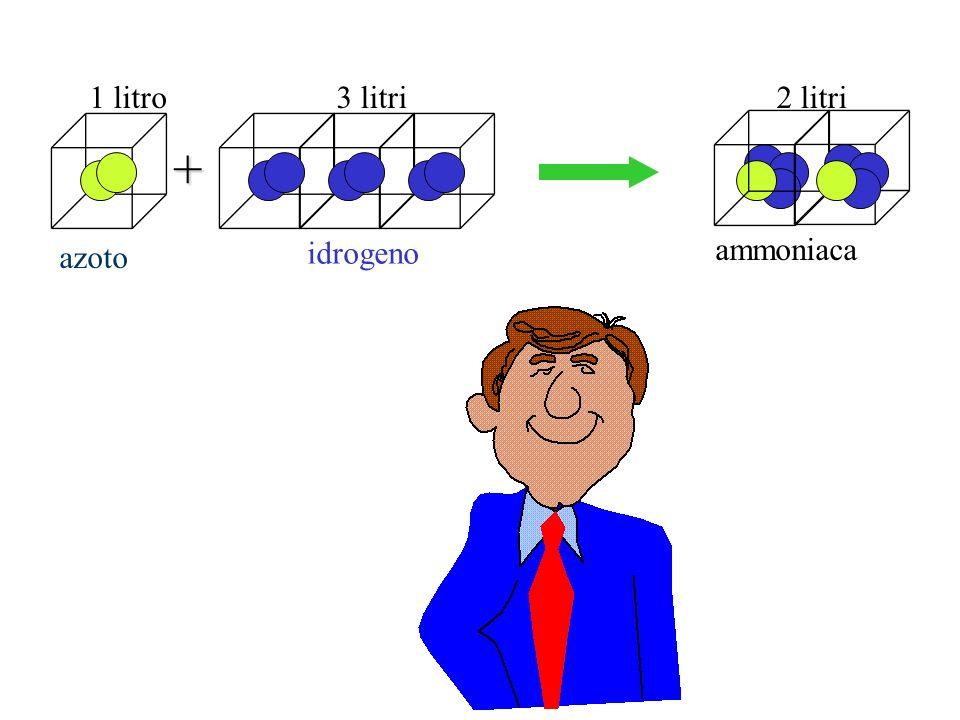 azoto 1 litro+ 3 litri2 litri idrogeno ammoniaca