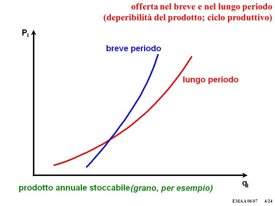 EMAA 06/07 4/24 offerta nel breve e nel lungo periodo (deperibilità del prodotto; ciclo produttivo)