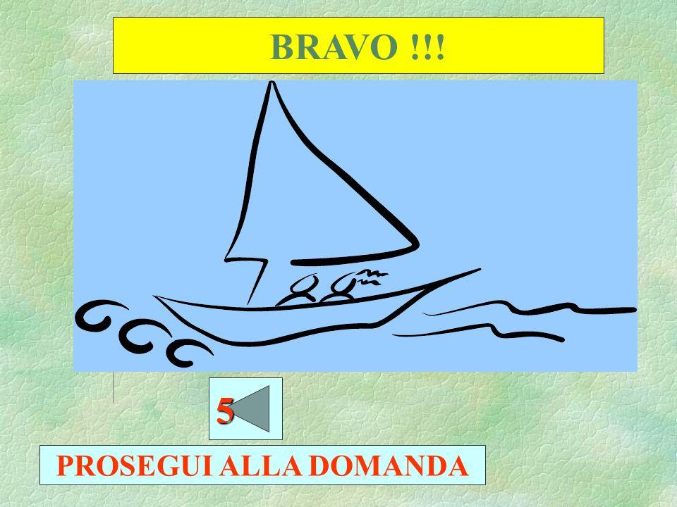 BRAVO !!! PROSEGUI ALLA DOMANDA 4444