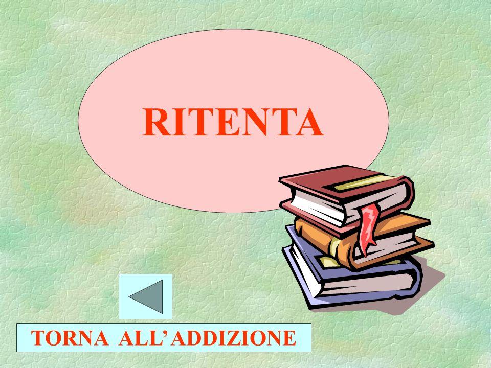 RITENTA TORNA ALLA SOTTRAZIONE