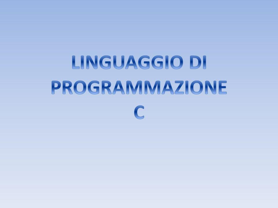#include main() { printf (ciao); printf (mondo!); } Lesecuzione inizia da main() Il corpo del programma è racchiuso da parentesi graffe