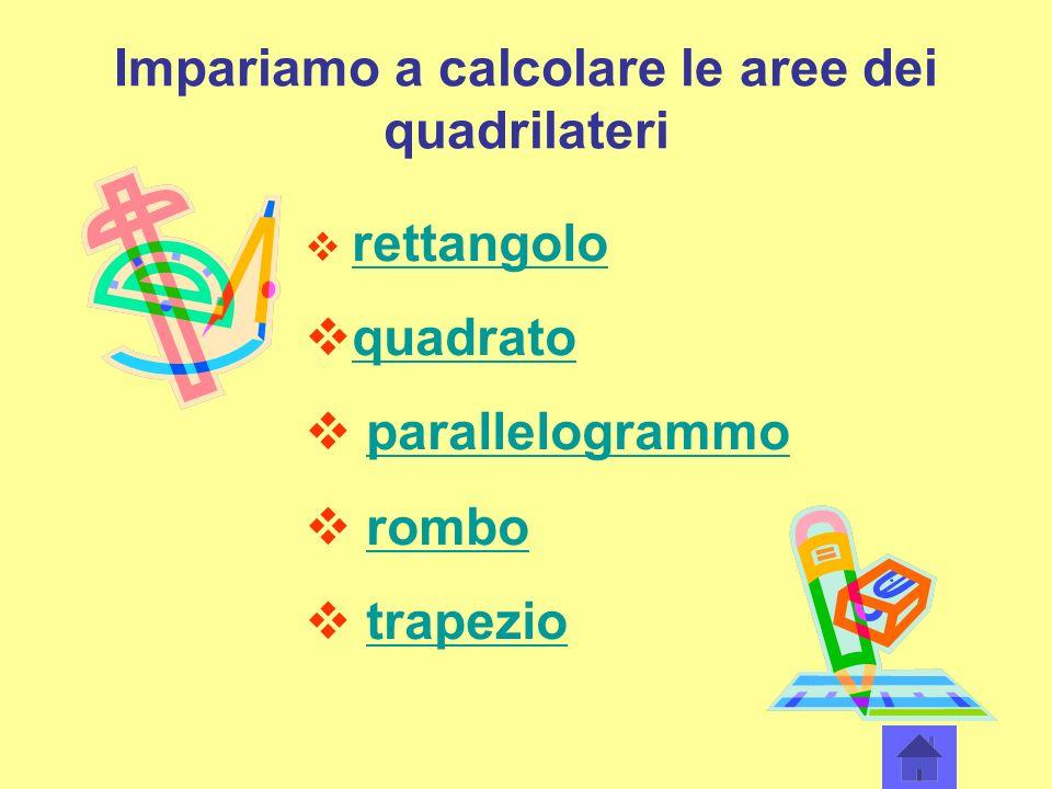 Impariamo a calcolare le aree dei quadrilateri rettangolo quadrato parallelogrammo rombo trapezio
