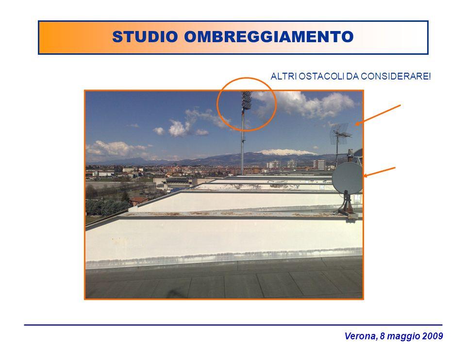 Verona, 8 maggio 2009 STUDIO OMBREGGIAMENTO ALTRI OSTACOLI DA CONSIDERARE!
