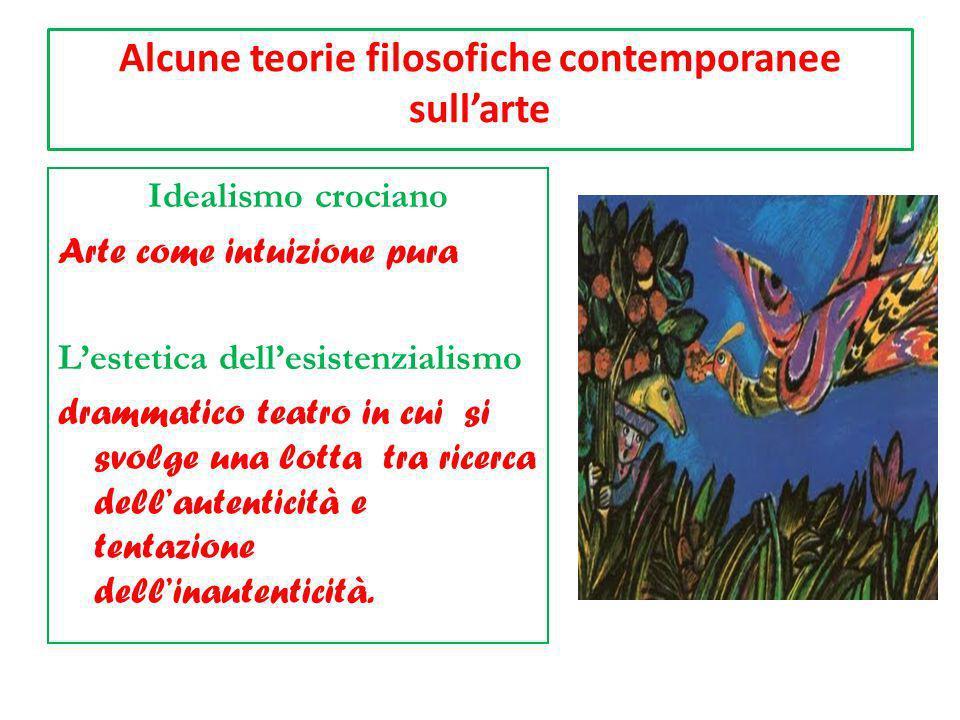 Alcune teorie filosofiche contemporanee sullarte Idealismo crociano Arte come intuizione pura Lestetica dellesistenzialismo drammatico teatro in cui s