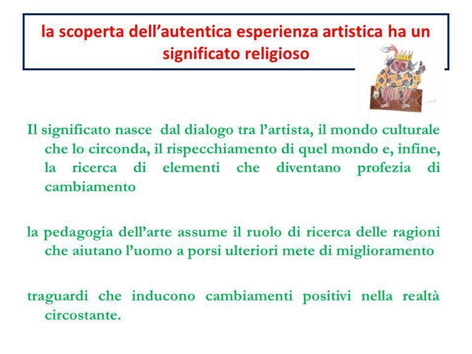 la scoperta dellautentica esperienza artistica ha un significato religioso Il significato nasce dal dialogo tra lartista, il mondo culturale che lo ci