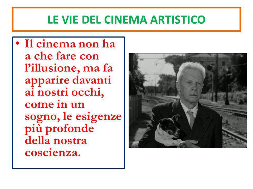 Il cinema non ha a che fare con lillusione, ma fa apparire davanti ai nostri occhi, come in un sogno, le esigenze più profonde della nostra coscienza.