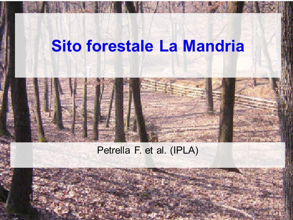 Sito forestale La Mandria Petrella F. et al. (IPLA)