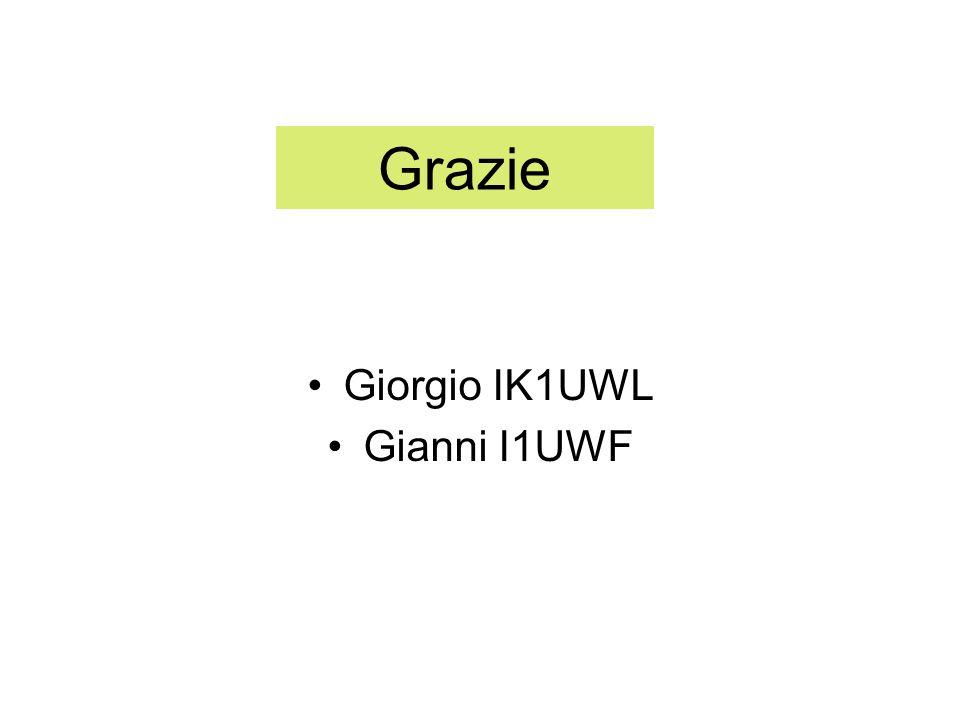 Grazie Giorgio IK1UWL Gianni I1UWF