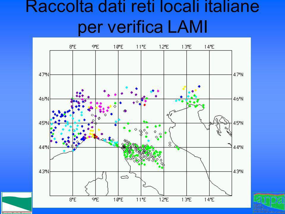 Raccolta dati reti locali italiane per verifica LAMI