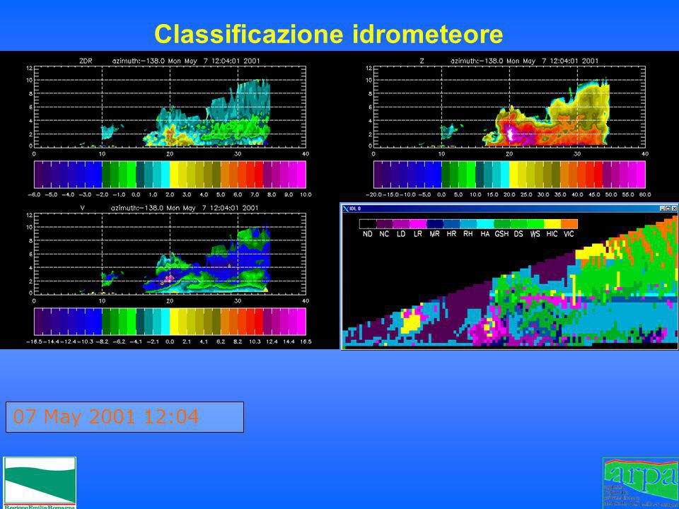 07 May 2001 12:04 Classificazione idrometeore