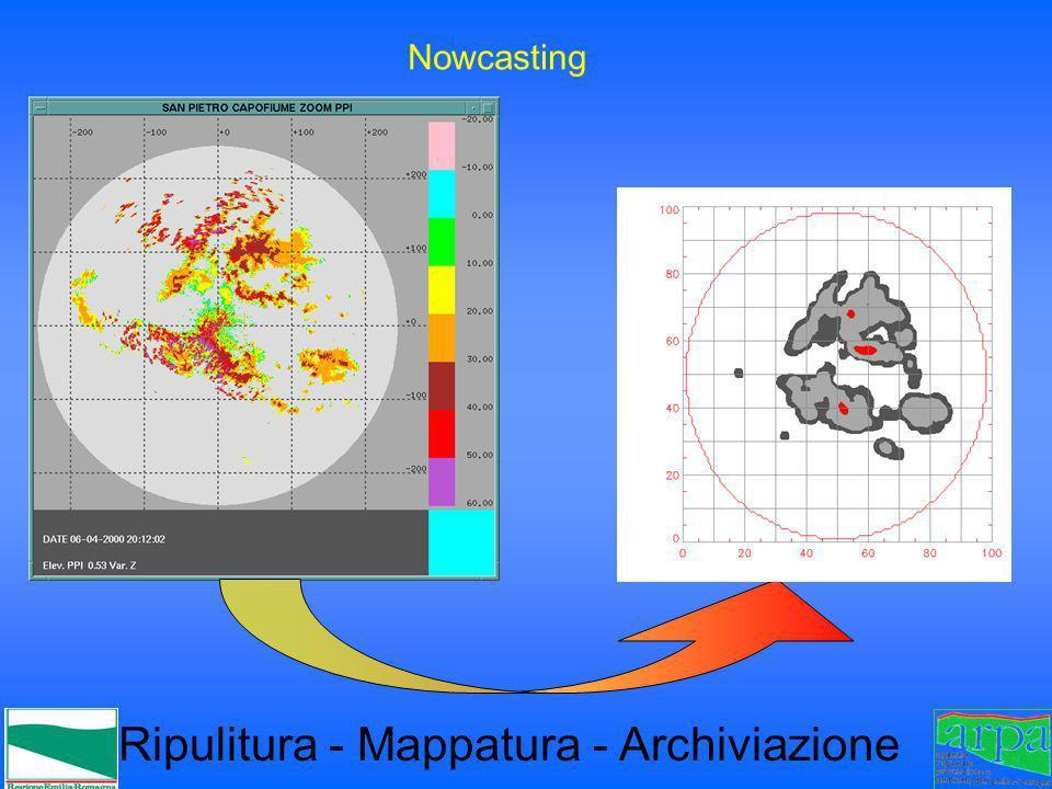 Ripulitura - Mappatura - Archiviazione Nowcasting