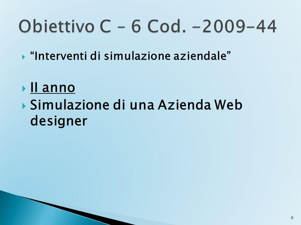 Interventi di simulazione aziendale II anno Simulazione di una Azienda Web designer 6