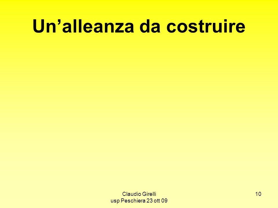 Claudio Girelli usp Peschiera 23 ott 09 10 Unalleanza da costruire