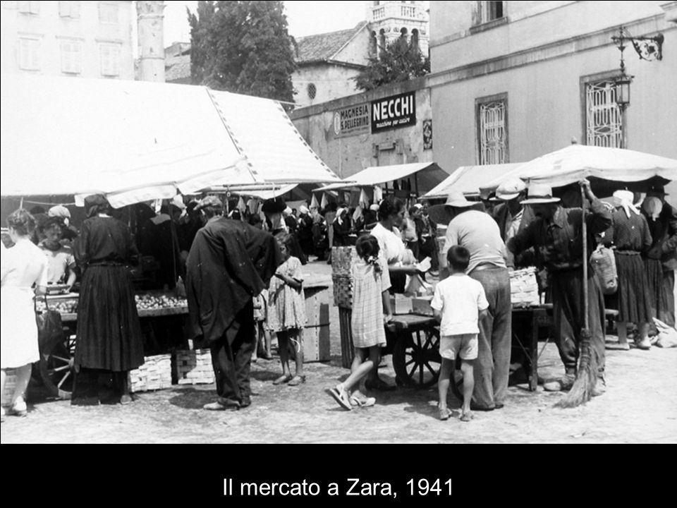 Il mercato a Zara, 1941