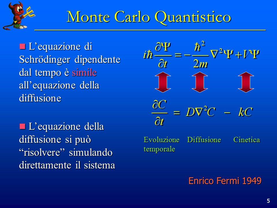 5 Lequazione di Schrödinger dipendente dal tempo è simile allequazione della diffusione Lequazione di Schrödinger dipendente dal tempo è simile allequ
