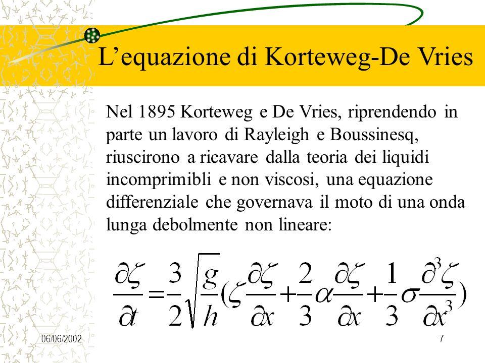 06/06/20026 Il lavoro di J.Scott Russel Possiamo quindi, alla luce delle osservazioni fatte da Russel e di quanto visto fin ora, dare una definizione