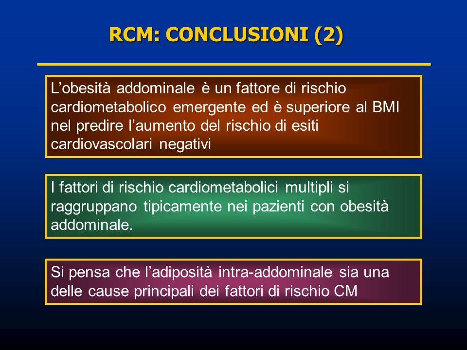 Lobesità addominale è un fattore di rischio cardiometabolico emergente ed è superiore al BMI nel predire laumento del rischio di esiti cardiovascolari
