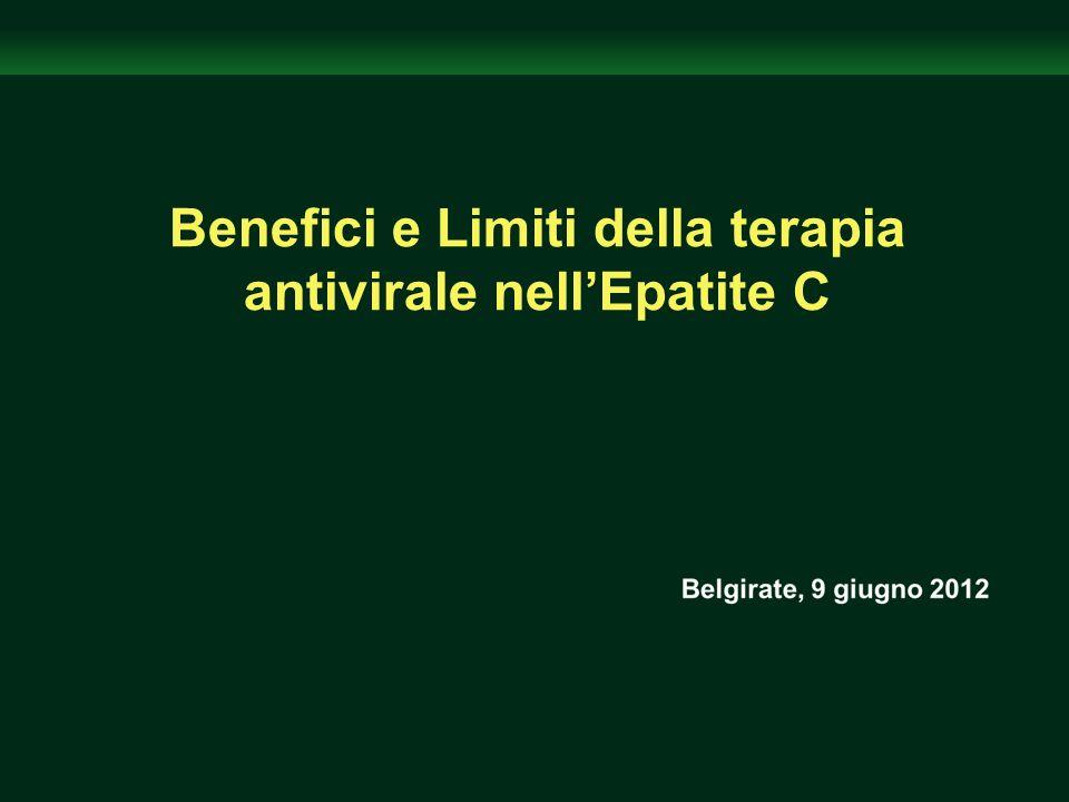Benefici e Limiti della terapia antivirale nellEpatite C