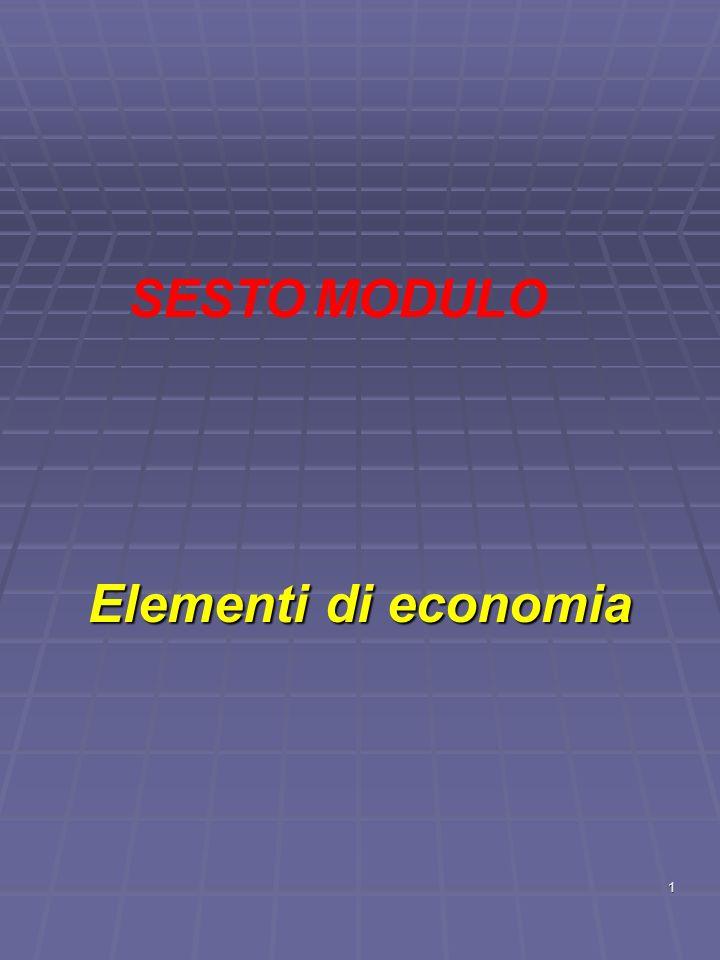 1 Elementi di economia SESTO MODULO