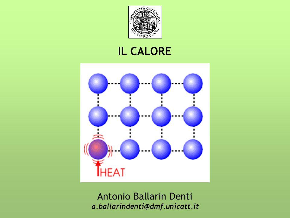 IL CALORE Antonio Ballarin Denti a.ballarindenti@dmf.unicatt.it