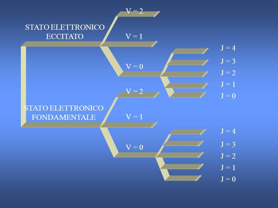 PER UN ATOMO PER UNA MOLECOLA ENERGIA INTERNA E a = E0 E0 + Ee Ee + EtEt ENERGIA INTERNA E m = E0 E0 + Ee Ee + E t + Er Er + EvEv