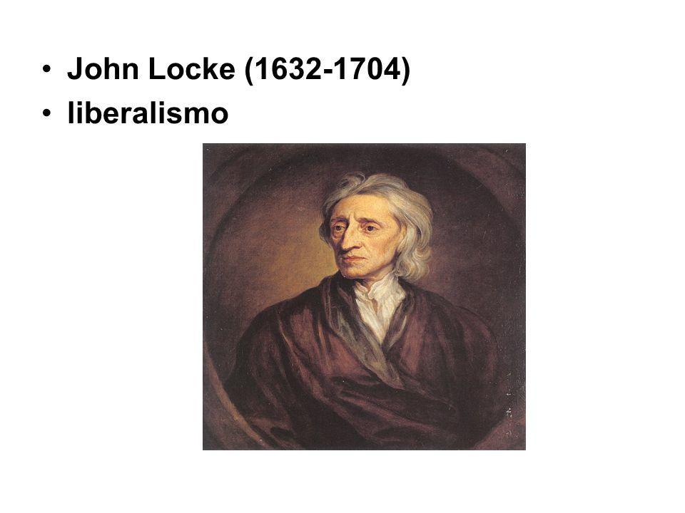 John Locke (1632-1704) liberalismo