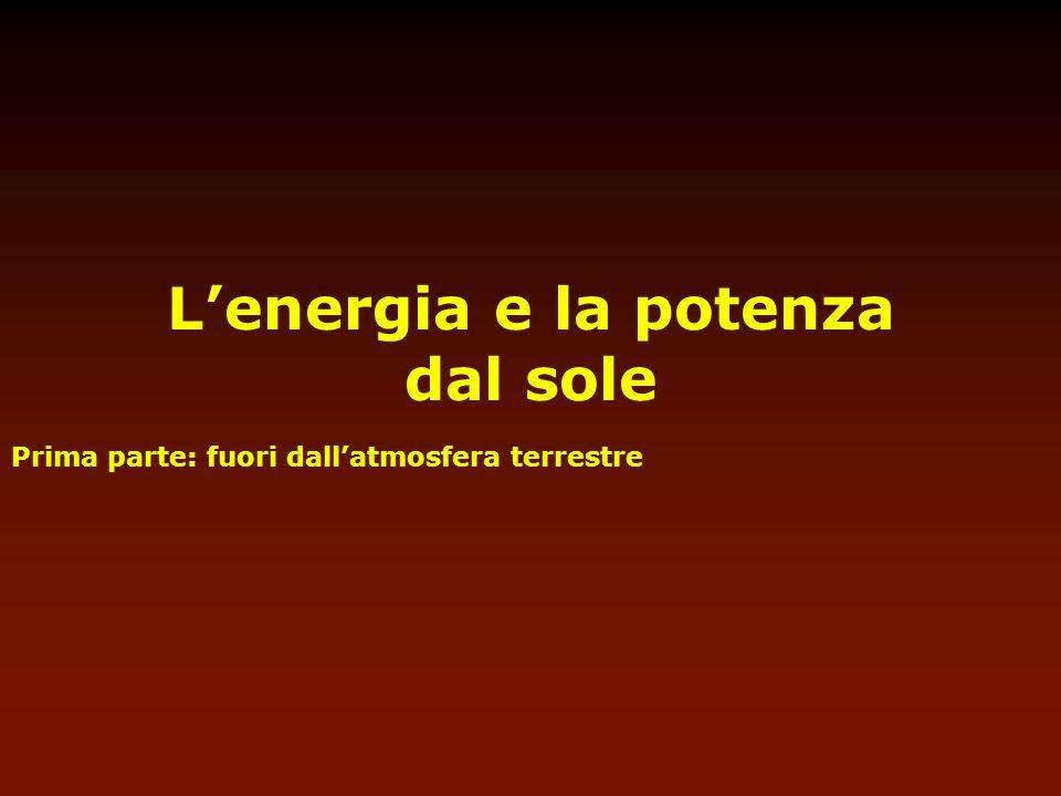 Lenergia e la potenza dal sole Prima parte: fuori dallatmosfera terrestre