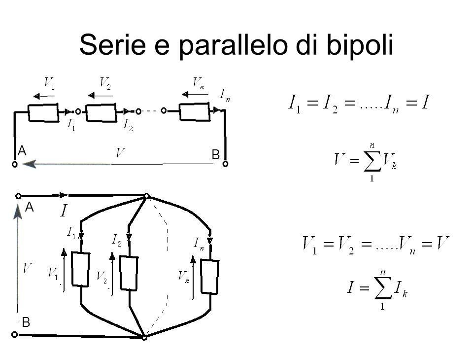 Serie e parallelo di bipoli A B A B