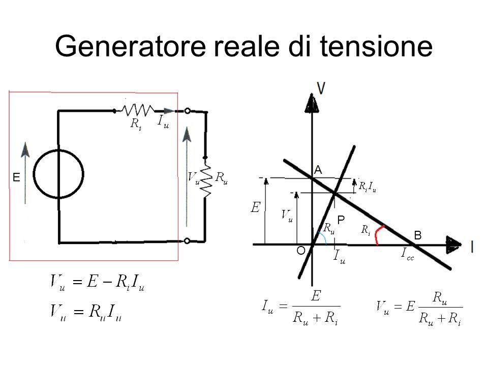 Generatore reale di tensione P A B O