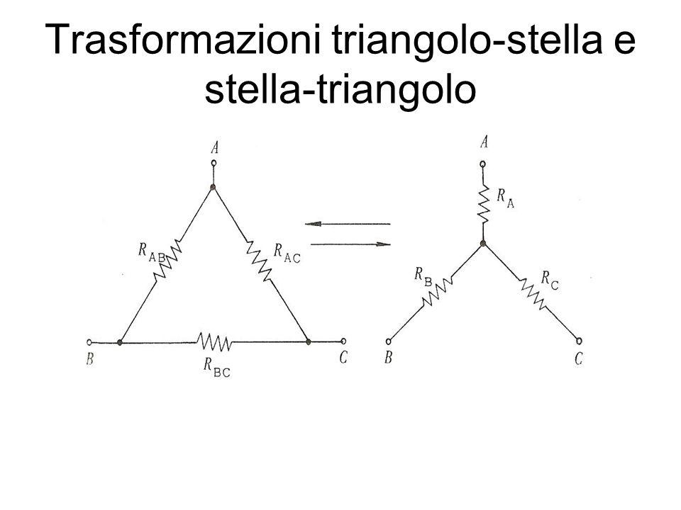 Trasformazioni triangolo-stella e stella-triangolo
