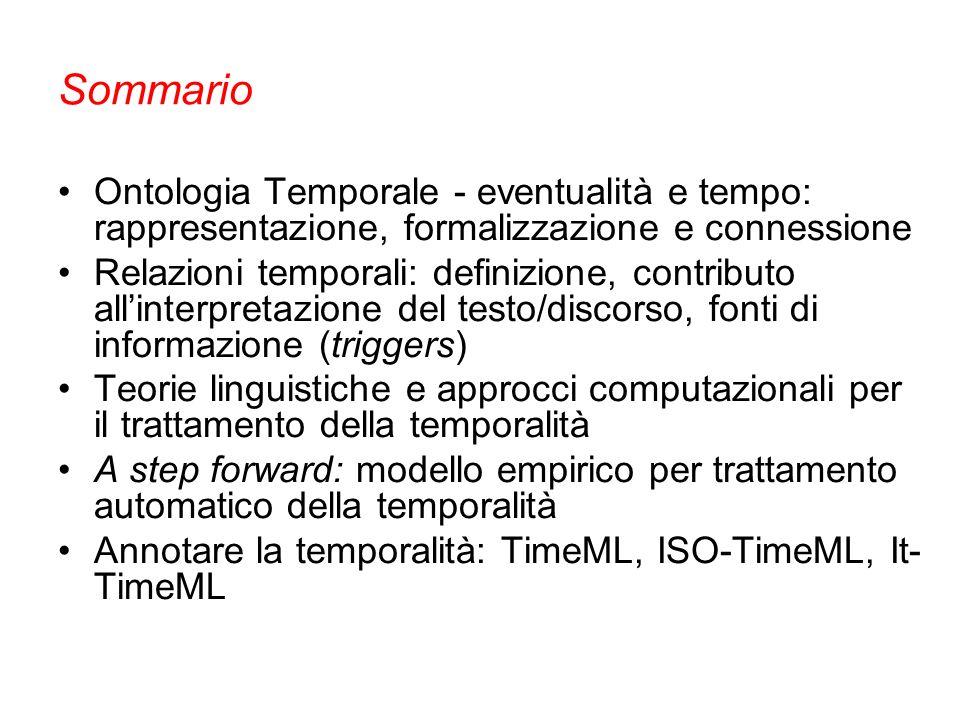 La relazione di precedenza è primaria Tempo & Entità Temporali (4) Relazioni tra istanti e intervalli
