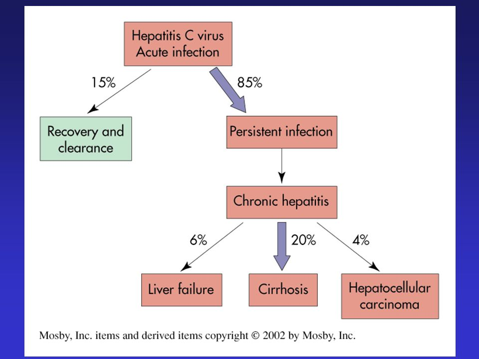 Epatite C: fattori che promuovono la progressione e la severità Elevato consumo di alcool Età > 40 anni al momento dellinfezione Coinfezione HBV Sesso maschile Coinfezione con HIV