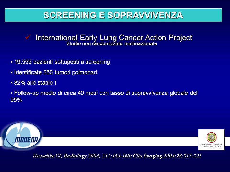 International Early Lung Cancer Action Project Studio non randomizzato multinazionale International Early Lung Cancer Action Project Studio non random