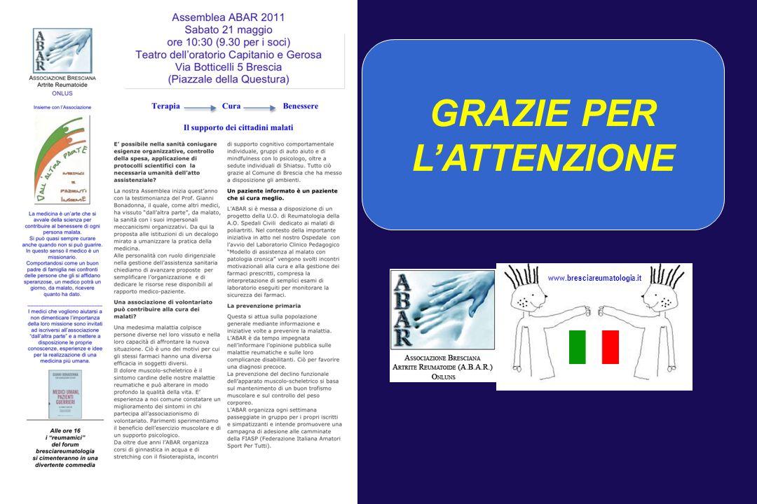 GRAZIE PER LATTENZIONE www.bresciareumatologia.it