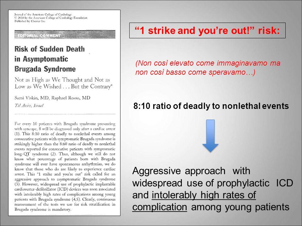 (Non così elevato come immaginavamo ma non così basso come speravamo…) 8:10 ratio of deadly to nonlethal events 1 strike and youre out! risk: Aggressi
