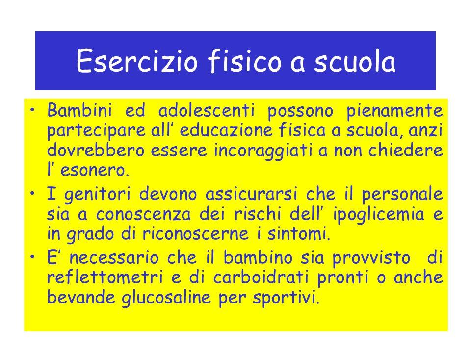 Esercizio fisico a scuola Bambini ed adolescenti possono pienamente partecipare all educazione fisica a scuola, anzi dovrebbero essere incoraggiati a