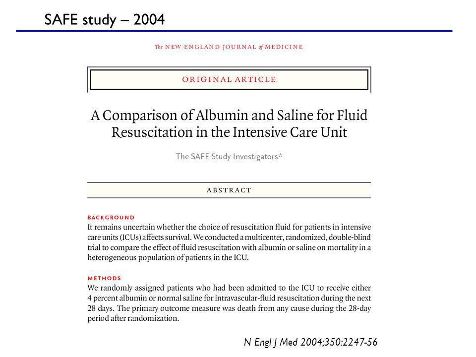 N Engl J Med 2004;350:2247-56 SAFE study – 2004