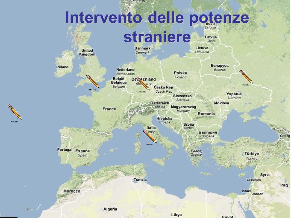 Intervento delle potenze straniere