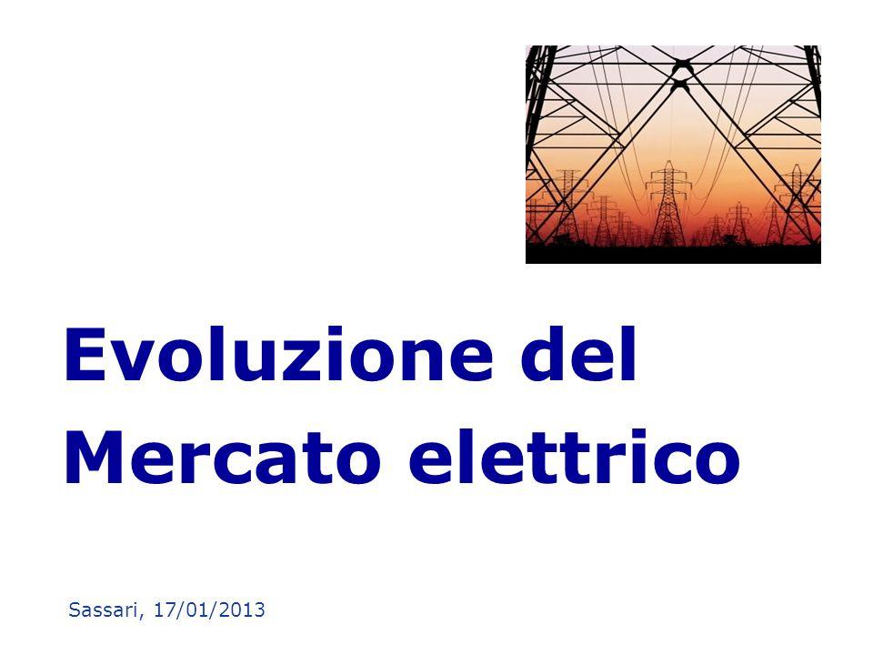 Evoluzione del Mercato elettrico Sassari, 17/01/2013