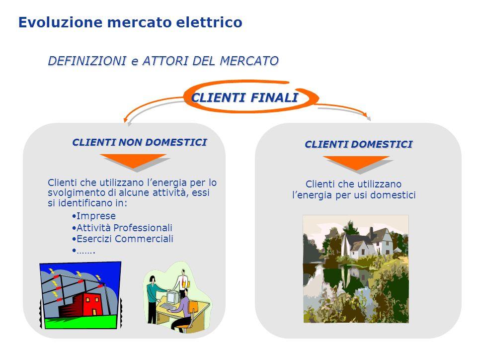 Evoluzione mercato elettrico Il rapporto commerciale con i clienti finali è sempre intermediato da una impresa di vendita, sia nella vendita di energia e sia nella quasi totalità della gestione delle richieste dei servizi di connessione.