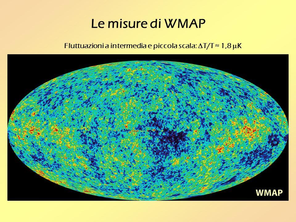 Le misure di WMAP Fluttuazioni a intermedia e piccola scala: T/T 1,8 K