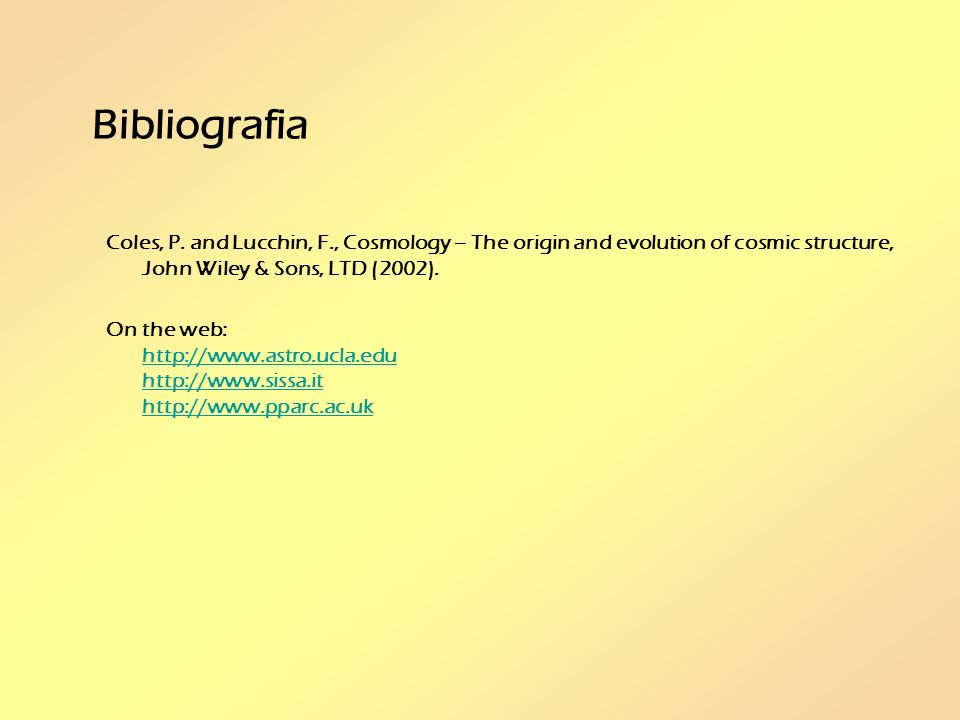 Bibliografia Coles, P.