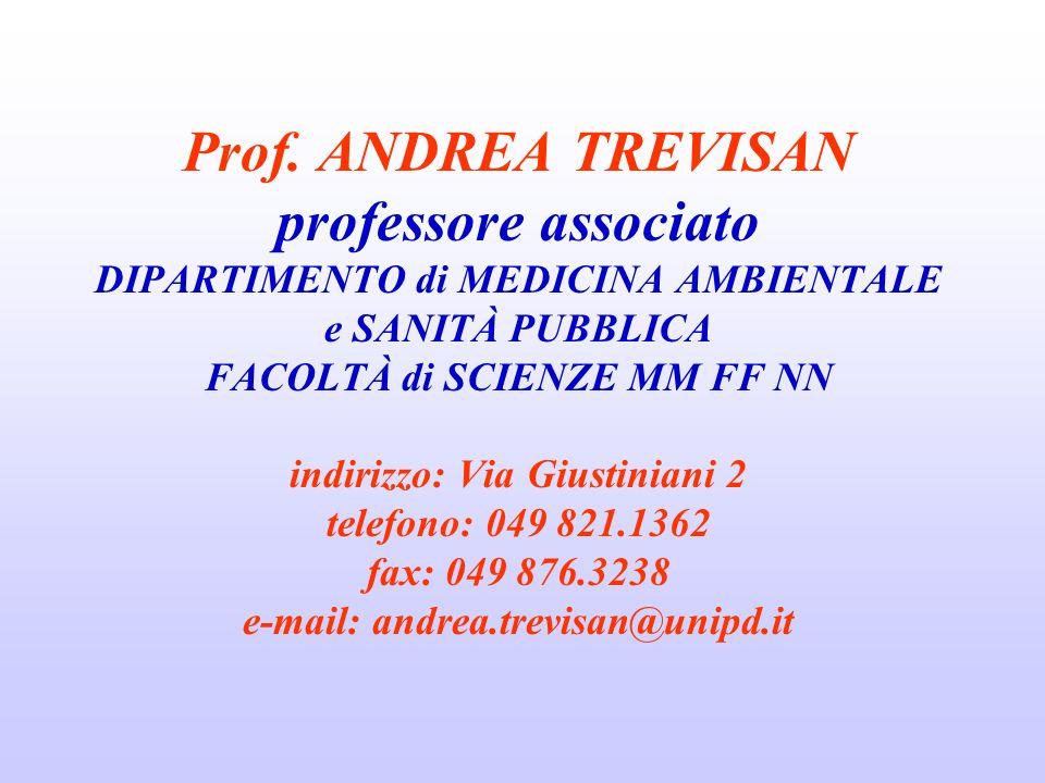 OBIETTIVI DEL CORSO RISCHI DA AGENTI CHIMICI, FISICI E BIOLOGICI CdS IN BIOLOGIA MOLECOLARE PROF.